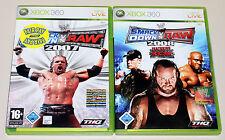 2 XBOX 360 SPIELE BUNDLE - SMACKDOWN VS RAW 2007 & 2008 - ECW WWE