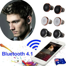 Mini TWS Twins Wireless Bluetooth 4.1 Stereo Headset In-Ear Earphone Earbuds Lot