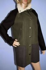 Forever 21 Green Black & Grey Mid Length Zip Jacket Coat Size M