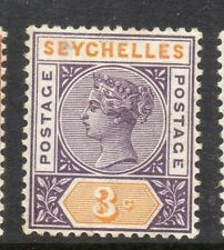 Seychelles 1893 Early Issue Fine Mint Hinged 3c. 309017