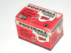 1989 TRADED SERIES FOOTBALL PICTURE CARDS - TOPPS - TRADING CARD SET Exc (TG18)