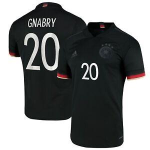 D140 Mens 2XL Germany Away Shirt 2019-21 with Gnabry 20 printing