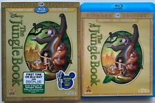 DISNEY THE JUNGLE BOOK BLU RAY DVD 2 DISC + SLIPCOVER SLEEVE RARE OOP DIAMOND ED