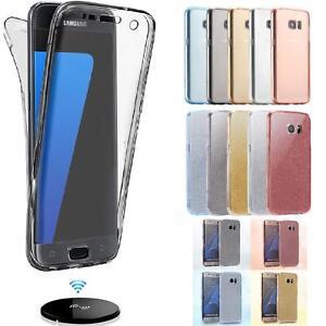 Résistant aux Chocs 360 Transparent Slim Étui Gel pour Samsung Galaxy S8 S9 S10+