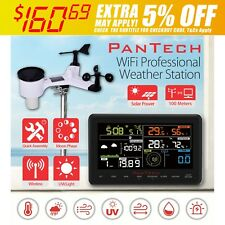 PanTech Colour LCD Wifi Wireless Professional Weather Station Solar Power UV