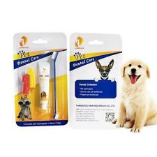 Pet Toothpaste Pet Toothbrush Dog Oral Care Cats Dogs Toothbrush Toothpaste Set