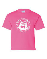 Don't Follow Me Jeep Wrangler Rubicon Willys Cool Parody Funny Pink  T-Shirt