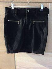 Women's Black Wrangler Velvet Mini Skirt size 10