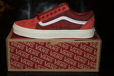 Vans for J.Crew Old Skool Sneakers Shoes Limited Edition Red NEW Men's US 9.0