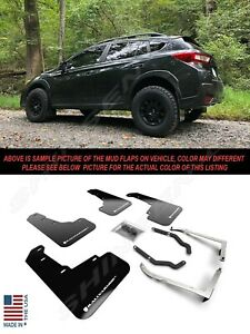 Rally Armor UR Black Mud Flaps w/ White Logo for 2018-2021 Subaru Crosstrek