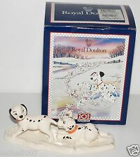 Royal Doulton Boxed 101 Dalmatians Lucky & Freckles On Ice DM10