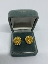 Vintage Christian Dior Cuff Links Gold Tone