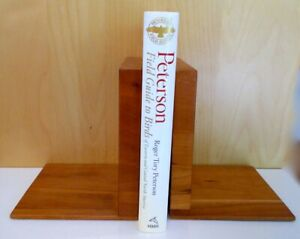 BOOK ENDS: PAIR HAND-MADE OF WOOD