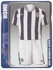 373 HOME KIT ENGLAND WEST BROMWICH ALBION STICKER FL CHAMPIONSHIP 2010 PANINI