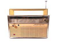 RADIO RARE VINTAGE Meridian SOVIET USSR RUSSIA TRANSISTOR 2 lot