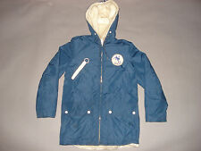Vintage 1970s INDIANAPOLIS COLTS ZIP UP HOODED JACKET Faux Fur Lining T SHIRT S