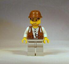 LEGO Adventurers Mike Minifigure 5912 5921 5975 5987 Dino Island Brown Kepi Cap