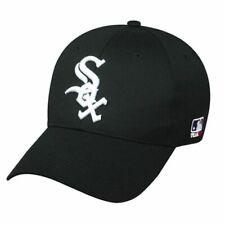 548ff1871 Chicago White Sox MLB OC Sports Solid Black Hat Cap Adult Men's Adjustable