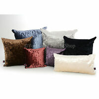 Luxury Crushed Velvet Fabric Rectangle Cushion Cover & Filling Size 19 x 12 inch