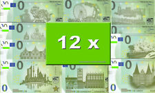 12 verschiedene MEMO Euro Souvenierscheine - Starterset