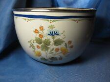 VTG Kobe Kitchen Enamel Wear Bowl Floral Made in Japan