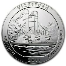 2011 Vicksburg 5 Oz .999 Silver Coin ~~ In Capsule ~~ Nice Condition