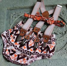 1st Birthday boy cake smash bow tie suspenders Thanksgiving Turkey orange brown
