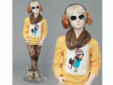 Child Fiberglass Cute Realistic Mannequin Dress Form Display #MZ-ITA3