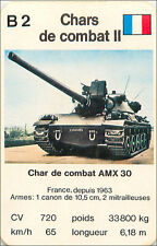 FRANCE AMX 30 CHAR COMBAT TANK PLAYING CARD CARTE A JOUER