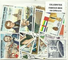 "Lot timbres thematique "" Celebrités"""