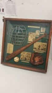 The History of Baseball Large Display Case shadow box framed Babe Ruth Ty Cobb