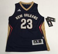 "Adidas Anthony Davis New Orleans Pelicans 23 Swingman NBA Youth +2"" Jersey Blue"