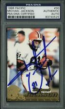 Browns Michael Jackson Authentic Signed Card 1996 Pacific #30 PSA/DNA Slabbed