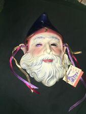 San Francisco 80's Clay Art Vintage Wizard Ceramic Mask 1989