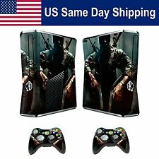 Modded Sticker Decal Skin for Xbox 360 Slim Console&Controllers Black Ops