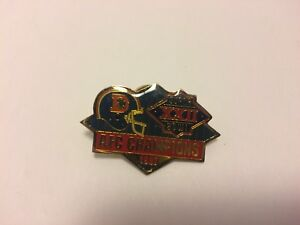 Denver Broncos Pin - XXII Super Bowl - AFC Champions 1987