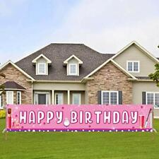 Large Pink Makeup Happy Birthday Banner Spa Birthday Party Supplies Make Up &...
