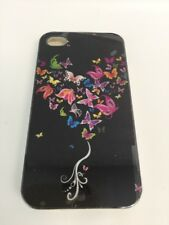 Case For iPhone 4 4S Butterfly Heart Multi Color Butterflies