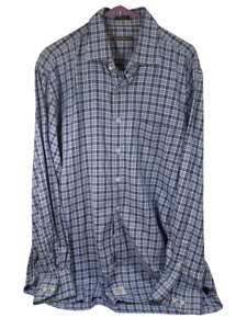 Peter Millar Mens Plaid Button Down Long Sleve Shirt Size Xl
