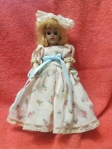 "vintage 7"" doll with long dress and bustle"