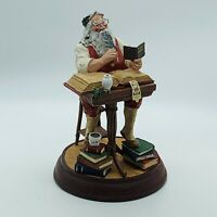 The Danbury Mint Norman Rockwell Santa Claus The Expense Book 1993 Statue