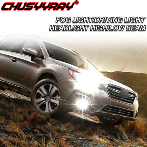 For Subaru Outback 2005-2009 LED Headlight High Low Beam + Fog Light Bulbs Kit