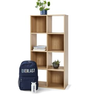 New 8 Cube Unit Wall Fixings Included Storage Hot Deal Free Shipping-Oak Look F1