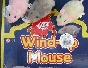 New Cat Kitten Play WIND UP MOUSE Clockwork Joke Mice Rat Fun Furry Toy Kitty ✔