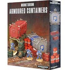 2 MUNITORUM ARMOURED CONTAINERS Scenery-Terrain Games Workshop Warhammer 40K-NEW