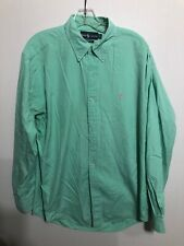 Ralph Lauren classic fit Light Green Button Down Shirt With Pink Horse Large