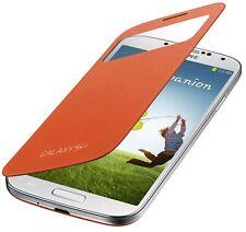 Etui S view Orange Samsung Galaxy S4 Mini Film Offert