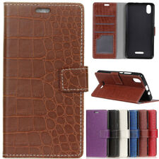 Luxury Flip stand Crocodile Leather Wallet Case Card Cover For Various Phone