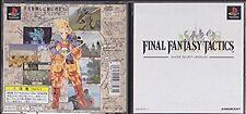 PlayStation Final Fantasy Tactics FF Japan PS1