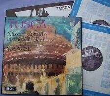 SET 341-2 PUCCINI Tosca NILSSON CORELLI FISCHER-DIESKAU MAAZEL UK Decca Stereo
